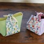 風呂敷風の小さな小物入れの作り方・プレゼント用布袋