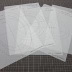 図案創りに便利な フレームの型紙