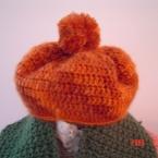 モヘアのベレー帽