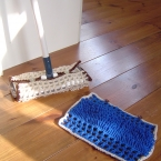 細編みのリング編みでお掃除モップ