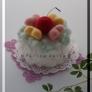 型を使って作る簡単羊毛フェルトケーキ