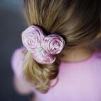 絹 ピンク ヘアアクセ