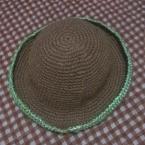 麻紐で帽子