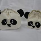 簡単!親子パンダの巾着袋
