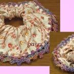 ⑧ シュシュ の 作り方 レッスン・編みをプラス