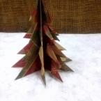 折り紙の簡単クリスマスツリー