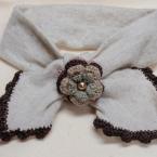 お花モチーフ付き ミニスカーフ