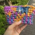 簡単に編めるクラッチバッグ