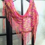 かぎ針で編む100gの軽量ストール(ショール)