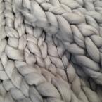 超極太毛糸Bickyで編むブランケット