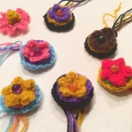 【かぎ針編み】ボタンみたいなお花のモチーフ