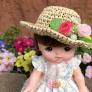 メルちゃんの麦わら帽子👒