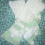 メリヤス編みのマフラー