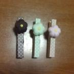 羊毛フェルトのお花のクリップ