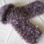 キラキラファーのプチマフラー紫