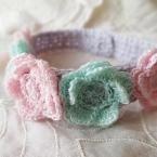 フラワーモチーフ*かぎ針編みの猫ちゃん首輪