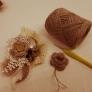 リネン糸で作る3段フラワーモチーフ