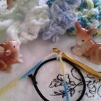 初心者さん必見!輪にしたゴムに編み目の作り方