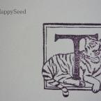年賀状用消しゴムハンコ トラ