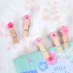 粘土で作るお花クリップ