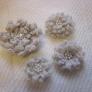 冬細糸の花モチーフ #76