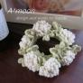シロツメクサの花飾りシュシュ #90
