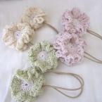 リバーシブル花のSWEETヘアゴム#104