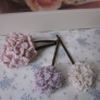 大人の花ピン3 つなぎ編み紫陽花#107