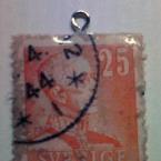 切手のチャーム