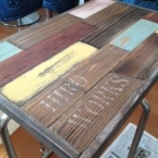IKEAのテーブルをアンティークにリメイク