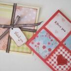 あまった紙で簡単手作りカード