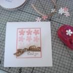 お花のパンチで簡単手作りカード