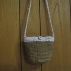 麻紐編みポシェット