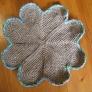 四葉のクローバー 麻紐編みマット