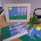 「パンダの親子と黄色い風船」ブックカバー
