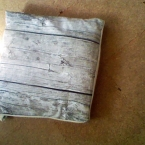 IKEAの布でクッションカバー2