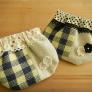 手織り布のパックンポーチ~春夏バージョン