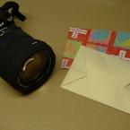 A4用紙を折って、L判封筒包み