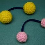 ニットボール(編み玉)ボンボンヘアゴムのゴムパーツ