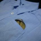 ネクタイでポケットチーフ