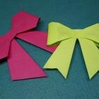 折り紙で折るリボン!ラッピング等に