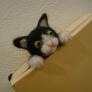 はさまっちゃう猫(しおり)2