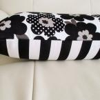 ファスナーなしの枕カバー 【花柄×ストライプ】