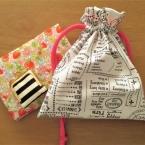 簡単!かわいい!!裏地付き巾着袋の作り方