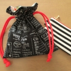 フリル大きめ!簡単かわいい!裏地付き巾着袋の作り方
