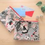 作り易い!端を合わせ易い!!袋縫いで作るミニポーチ