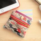 ファスナーとボタンのカードも入る小さなお財布