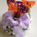 煎餅の袋からリメイク ハロウィンお菓子入れ