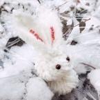 スラッシュキルトの雪うさぎ