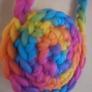毛糸のグラデーションポシェット